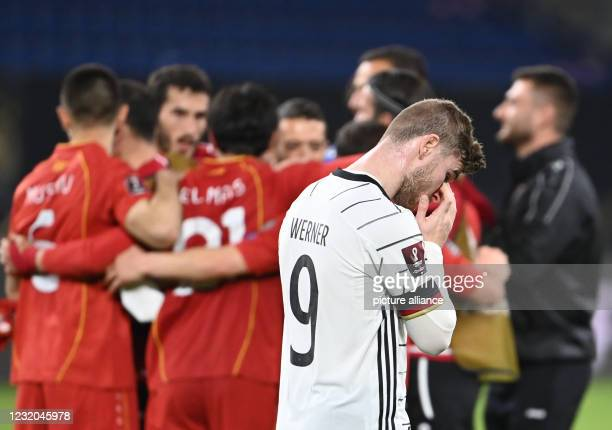 March 2021, North Rhine-Westphalia, Duisburg: Football: World Cup Qualification Europe, Germany - North Macedonia, Group Stage, Group J, Matchday 3...