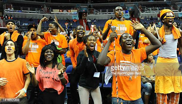 The Coolidge student section gets fired up as they cut into the Paul VI lead during 2nd half action on March 20 2012 in Washington DC