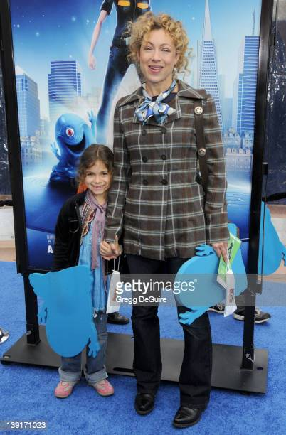 March 22 2009 Universal City Ca Alex Kingston and daughter Salome Violetta Haertel 'Monsters vs Aliens' Los Angeles Premiere Held at the Gibson...