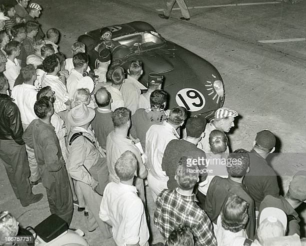 This Maserati 450S driven by Juan Manuel Fangio and Jean Behra took home the victory in the 12 Hours of Sebring at Sebring International Raceway