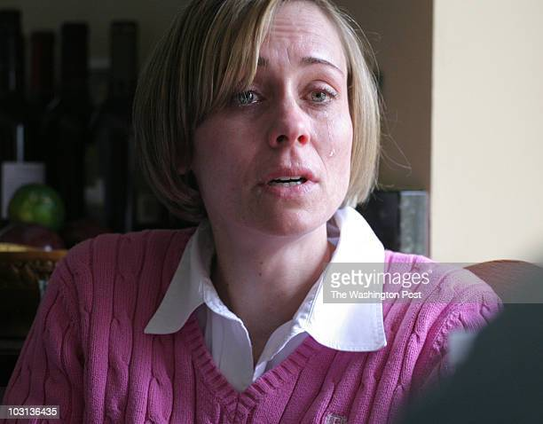 March 24 2008 PLACE Alexandria VA CREDIT jahi chikwendiu/twp Meredith Heller sheds a tear while talking about her deceased sister Ashley McIntosh in...
