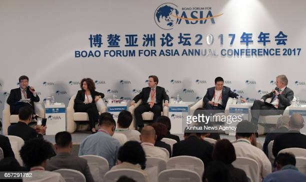 BOAO March 24 2017 The session of Hidden Champions Small but Great is held at the Boao Forum for Asia Annual Conference 2017 in Boao south China's...