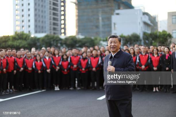 March 24, 2021 -- Chinese President Xi Jinping, also general secretary of the Communist Party of China Central Committee and chairman of the Central...
