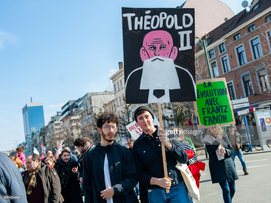 National demonstration against racism in Brussels : News Photo
