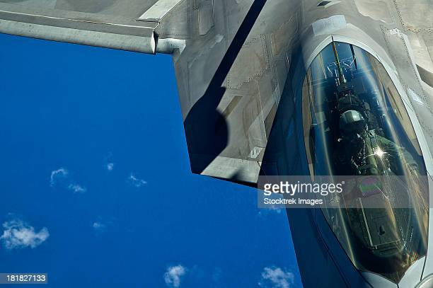 March 27, 2012 - An F-22 Raptor in flight during a refueling mission over the Hawaiian Islands.