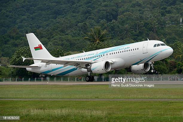 March 27, 2013 - An Airbus A320 of the Royal Air Force of Oman taking off from Langkawi Airport, Malaysia.