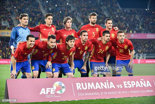 Spain National team during the International quotAquot friendly football game between Romania and Spain at Cluj Arena in ClujNapoca Romania ROU
