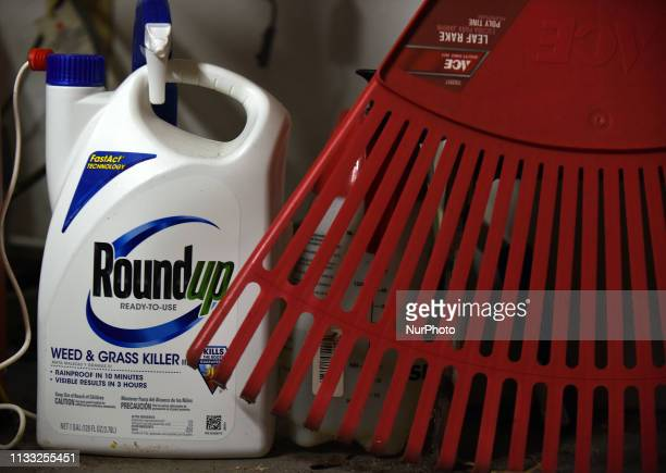 March 27 2019 Orlando Florida United States A container of Roundup weed killer is seen in a garage in Orlando Florida on March 27 the day a...
