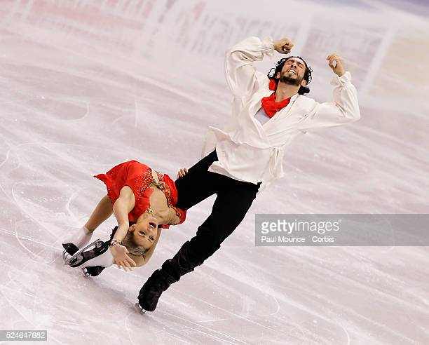 March 27 Los Angeles California United States Skaters Tanith BELBIN / Benjamin AGOSTO during the Free Dance Program at the 2009 World Figure Skating...