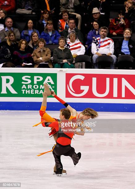 March 27 Los Angeles California United States Skaters Zoe BLANC / PierreLoup BOUQUET during the Free Dance Program at the 2009 World Figure Skating...