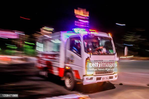 City March 28 2020 An Ambulance Enters A Checkpoint In Quezon News Photo Getty Images