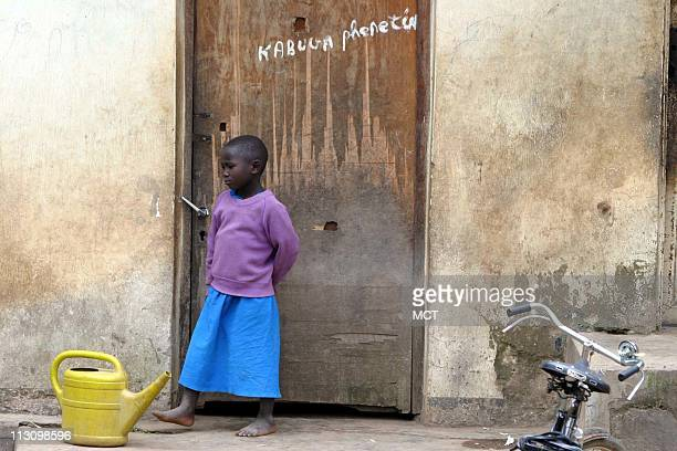 March 29 2004 A young girl at the home of Felicien Kabuga in the village of Nyanga Rwanda where Kabuga was born Kabuga's privately owned Radio...