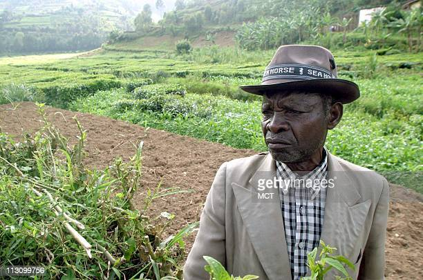 March 29 2004 Andrew Kibira the brother of Felicien Kabuga in the village of Nyanga Rwanda where Kabuga was born Kabuga's privately owned Radio...