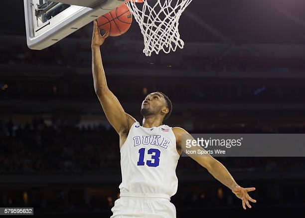 Duke Blue Devils guard Matt Jones goes up for a basket during the NCAA Div 1 Men's championship - Elite Eight basketball game between Gonzaga...
