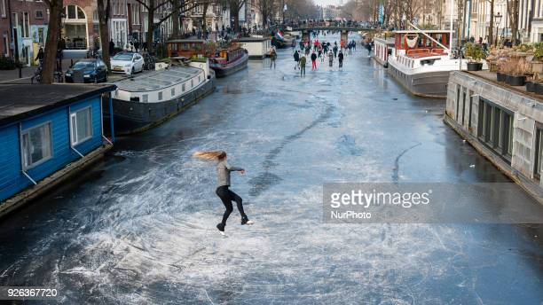 March 2nd Amsterdam Numerous skating enthusiasts braved the cold and possibly thin ice to go skating on the Amsterdam canals on Friday The...