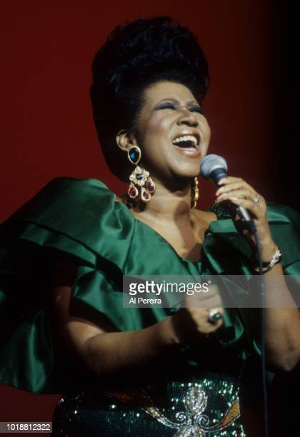 Aretha Franklin appears in concert at Radio City Music Hall in New York City on March 3 1990 In New York City