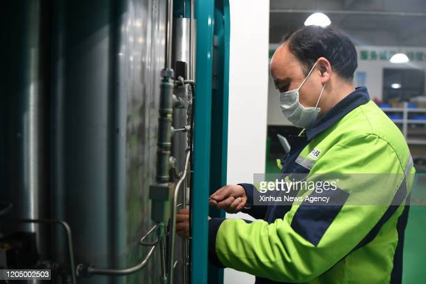 March 3, 2020 -- A staff assembles oxygenerators at the plant of Zhuoyu Technology company in Changsha, central China's Hunan Province, March 3,...