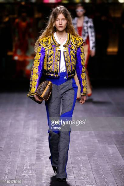 March 3: A model walks the runway during the Louis Vuitton as part of the Paris Fashion Week Womenswear Fall/Winter 2020/2021 on March 3, 2020 in...
