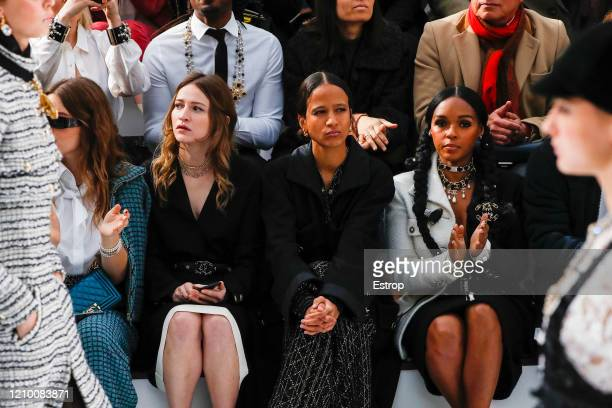 Actress Janelle Monae during the Chanel as part of the Paris Fashion Week Womenswear Fall/Winter 2020/2021 on March 3 2020 in Paris France