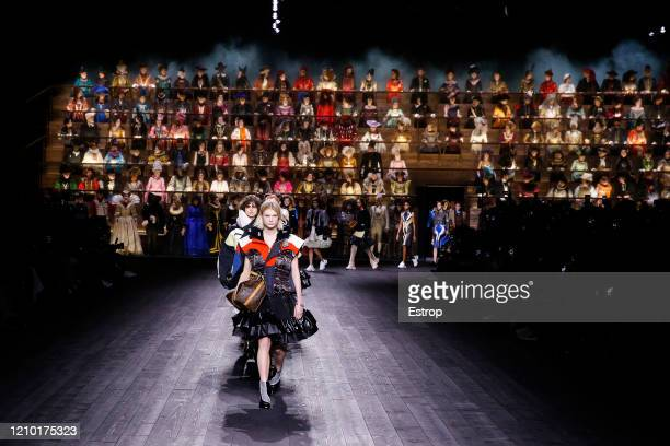 March 3: Atmosphere during the Louis Vuitton as part of the Paris Fashion Week Womenswear Fall/Winter 2020/2021 on March 3, 2020 in Paris, France.