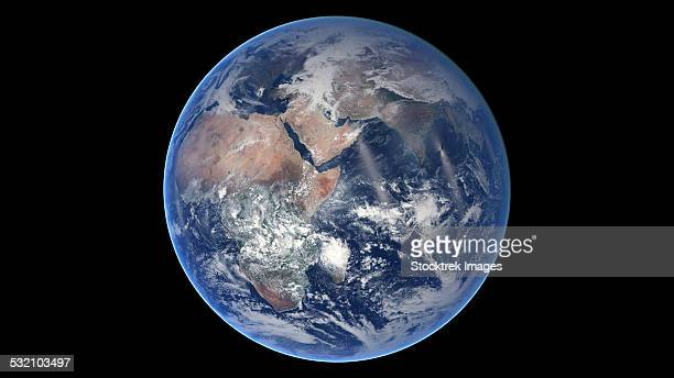 March 30, 2014 - Composite image of the eastern hemisphere on planet Earth.