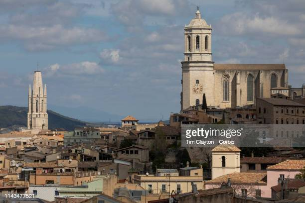 March 30: A general view of the City of Gerona showing The Girona Cathedral, also known as the Cathedral of Saint Mary of Girona and The Collegiate...