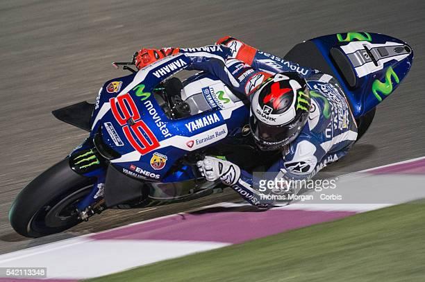 DOHA QATAR March 3rd 2016 Losail Circuit Qatar Jorge Lorenzo who rides Yamaha for Movistar Yamaha MotoGP at the final preseason test before the 2016...