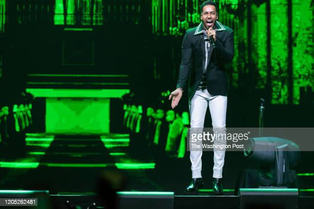 WASHINGTON DC March 3rd 2020 Anthony Romeo Santos of Aventura performs at Capital One Arena in Washington DC