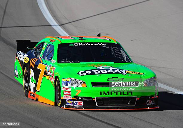 Danica Patrick Go Daddy Chevrolet Imapla SS during practice for the Sam's Town 300 Nationwide Series race at Las Vegas Motor Speedway in Las Vegas NV