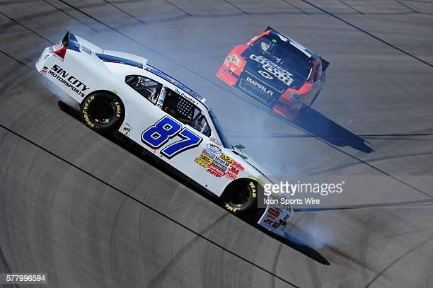 Joe Nemechek NEMCO Toyota Camry during practice for the Sam's Town 300 Nationwide Series race at Las Vegas Motor Speedway in Las Vegas NV