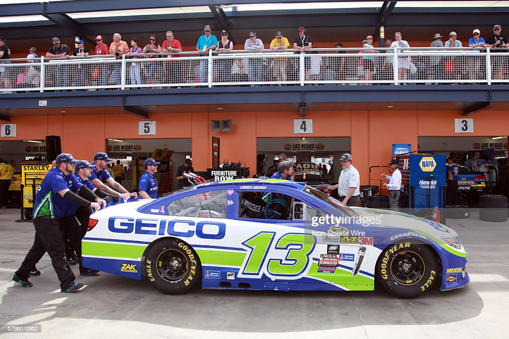 Crew Members For Casey Mears (13) Germain Racing Chevrolet Impala SS Push  His Car