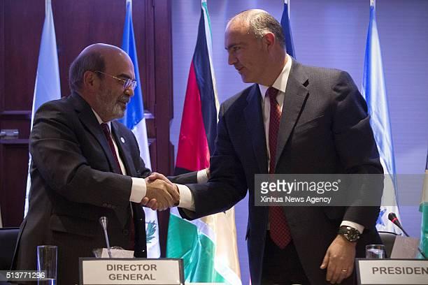 CITY March 4 2016 UN Food and Agriculture Organization Director General Jose Graziano da Silva left and the head of Mexico's Agriculture Livestock...