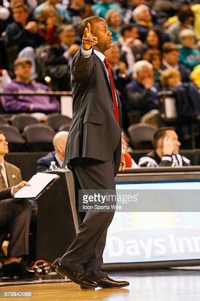 Charleston Cougars head coach Earl Grant during the game between UNCW vs Charleston at Royal Farms Arena in Baltimore MD