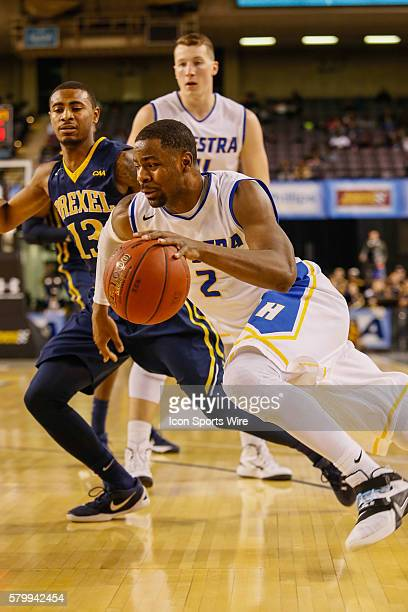 Hofstra Pride guard Ameen Tanksley drives to the basket during the game between Hofstra vs Drexel at Royal Farms Arena in Baltimore MD