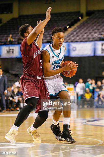 North CarolinaWilmington Seahawks guard CJ Bryce tries to drive past Charleston Cougars guard Payton Hulsey during the game between UNCW vs...