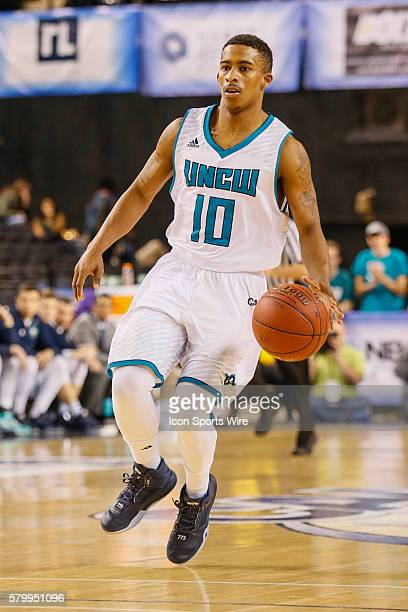 North CarolinaWilmington Seahawks guard Denzel Ingram in action during the game between UNCW vs Northeastern at Royal Farms Arena in Baltimore MD