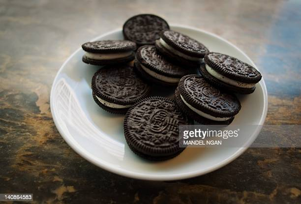 "March 7, 2012 photo shows a plate of Oreo cookies in Washington, DC. Technically they're ""chocolate sandwich cookies,"" a baked concoction of sugar,..."