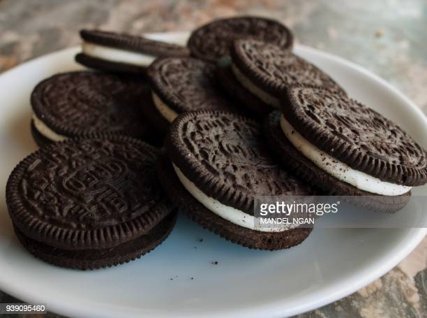 A March 7 2012 photo shows a plate of Oreo cookies in Washington DC Technically they're chocolate sandwich cookies a baked concoction of sugar...