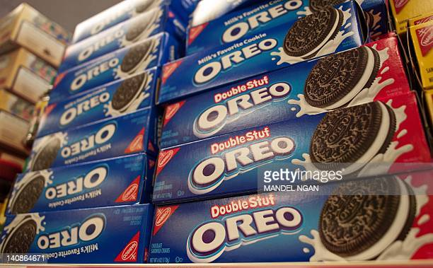 March 7 2012 photo shows boxes of Oreo cookies in Washington DC Technically they're chocolate sandwich cookies a baked concoction of sugar...