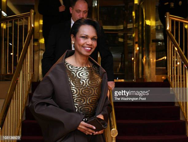 March 8 2008 CREDIT Susan Biddle / TWP Washington DC EDITOR Gridiron dinner guests arriving at Renaissance Hotel Here Sec of State Condoleezza Rice...