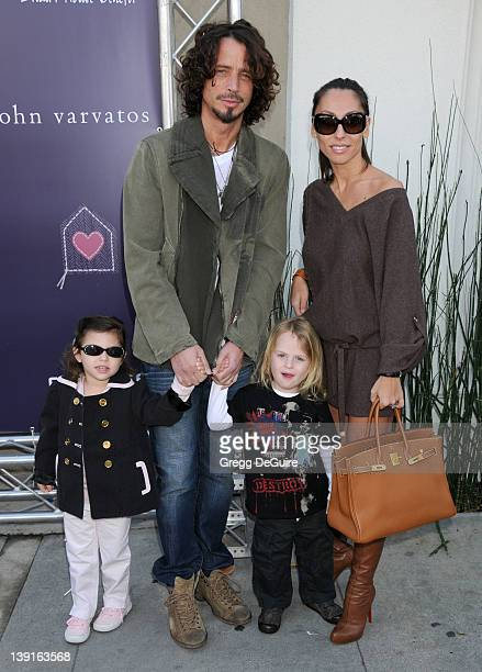 March 8 2009 West Hollywood Ca Chris Cornellwife Vicky Karayiannis and children John Varvatos 7th Annual Stuart House Benefit Held at the John...