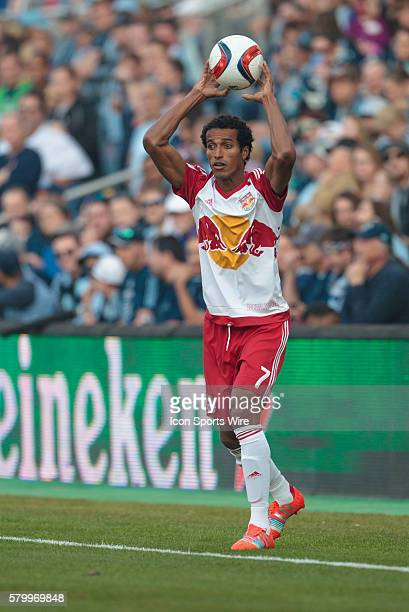New York Red Bulls defender Roy Miller during the MLS opening day game between the New York Red Bulls and Sporting KC at Sporting Park in Kansas...