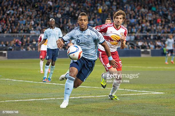 Sporting KC defender Erik Palmer-Brown during the MLS opening day game between the New York Red Bulls and Sporting KC at Sporting Park in Kansas...