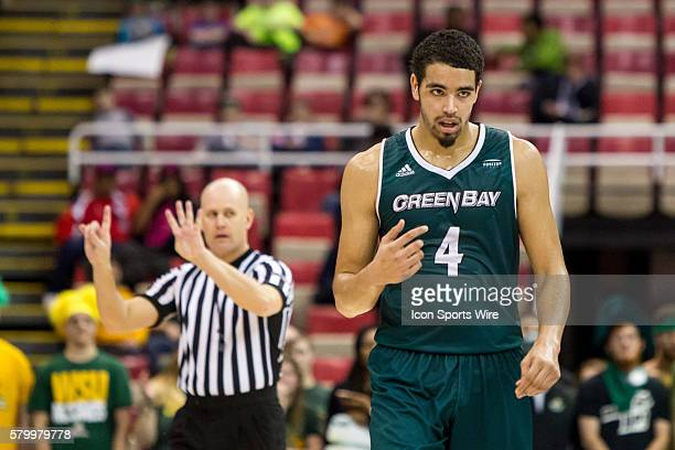Green Bay Phoenix guard Jordan Fouse during the Horizon League men's basketball tournament championship game between the Green Bay Phoenix and the...