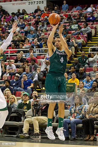 Green Bay Phoenix guard Jordan Fouse shoots a jump shot during the Horizon League men's basketball tournament championship game between the Green Bay...