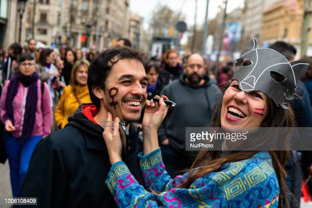 March 8 2020 Manifestation in Barcelona during the International Women's Day to support the rights of the women Thousands of people have been...
