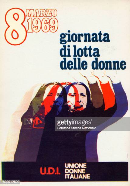 March 8 Propaganda poster by the UDI Italy Rome 1969