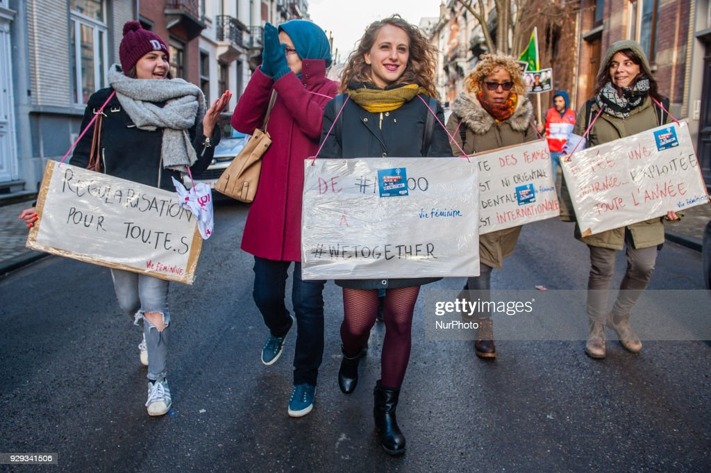 International Women's Day in Brussels : News Photo