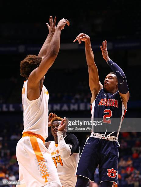 Auburn Tigers guard Bryce Brown shoots the ball during the SEC Men's Basketball Championship Tournament game between Tennessee and Auburn Tennessee...