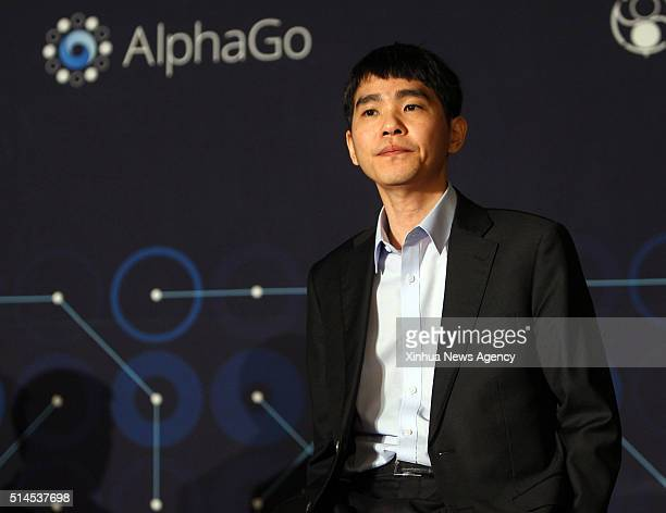 SEOUL March 9 2016 South Korean professional Go player Lee Sedol attends a press conference after the the Google DeepMind Challenge Match against...